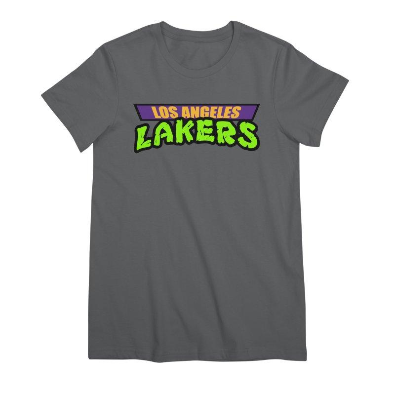 Laker Power Women's Premium T-Shirt by Mike Hampton's T-Shirt Shop