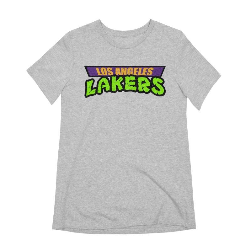 Laker Power Women's Extra Soft T-Shirt by Mike Hampton's T-Shirt Shop