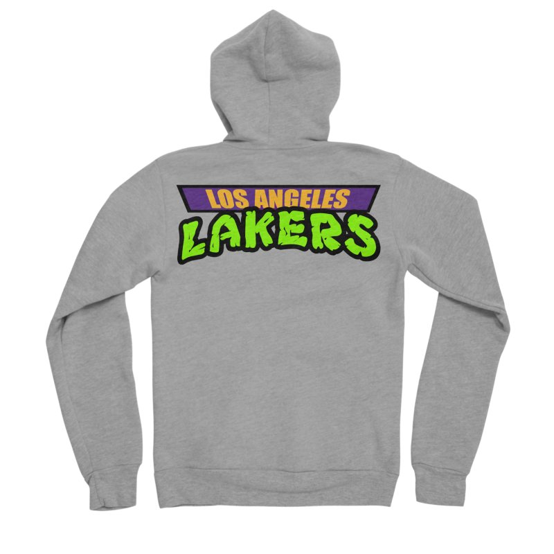 Laker Power Women's Sponge Fleece Zip-Up Hoody by Mike Hampton's T-Shirt Shop