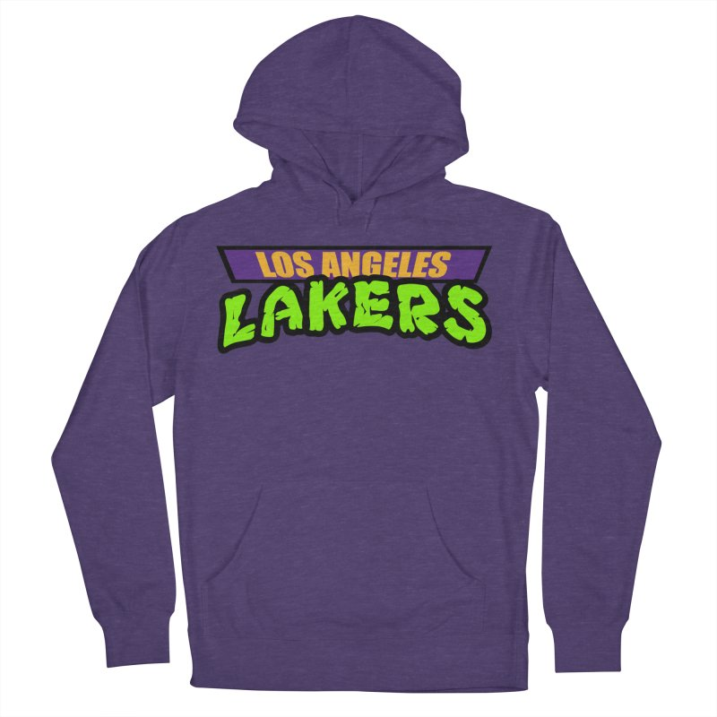 Laker Power Women's French Terry Pullover Hoody by Mike Hampton's T-Shirt Shop