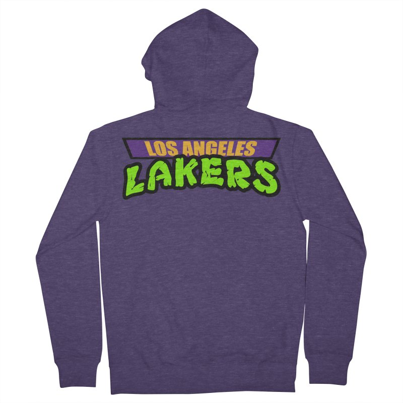 Laker Power Men's French Terry Zip-Up Hoody by Mike Hampton's T-Shirt Shop