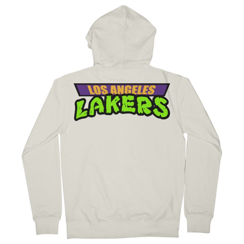 Laker Power Men's French Terry Zip-Up Hoody by Mike Hampton's T-Shirt Shop