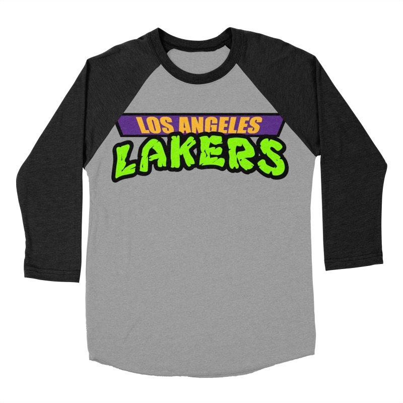 Laker Power Men's Baseball Triblend Longsleeve T-Shirt by Mike Hampton's T-Shirt Shop