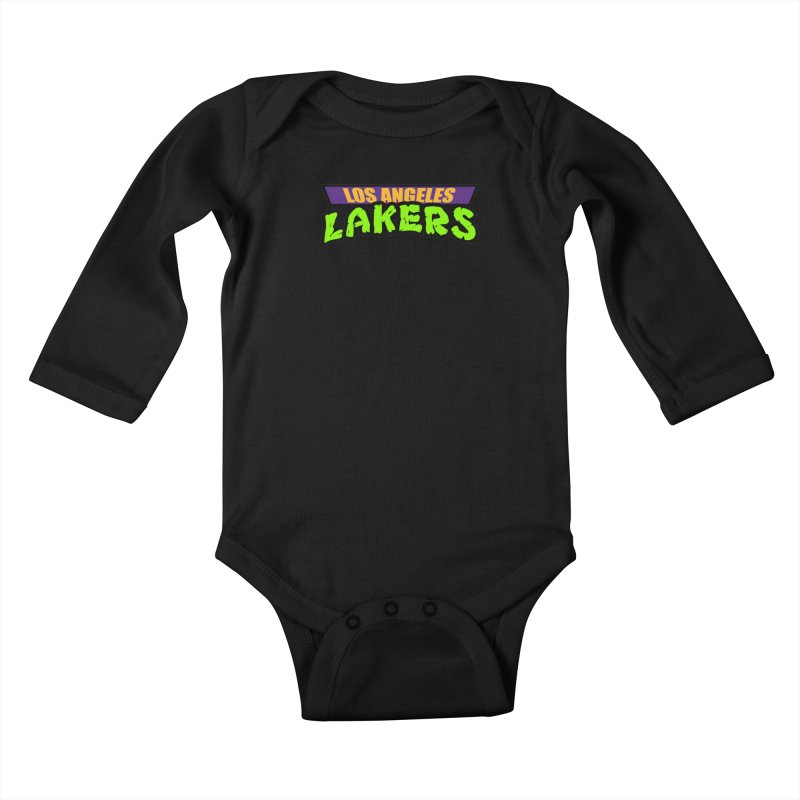 Laker Power Kids Baby Longsleeve Bodysuit by Mike Hampton's T-Shirt Shop