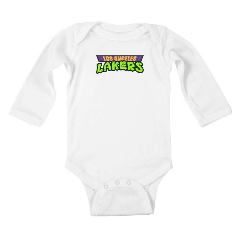 Laker Power Kids Baby Longsleeve Bodysuit by Mike Hampton's T-Shirt Shop