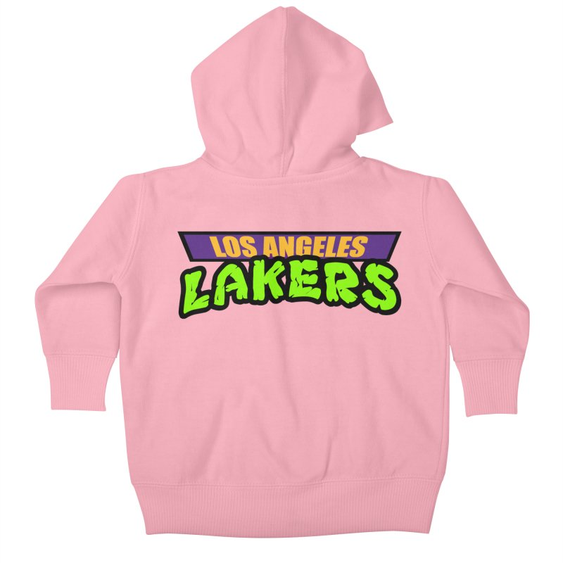 Laker Power Kids Baby Zip-Up Hoody by Mike Hampton's T-Shirt Shop