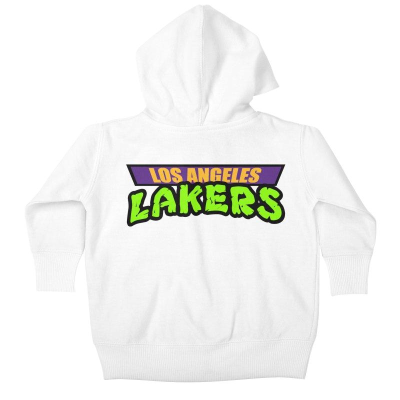 Laker Power Kids Baby Zip-Up Hoody by Mike Hampton's T-Shirt Shop