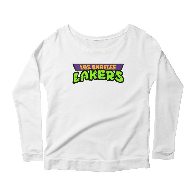 Laker Power Women's Scoop Neck Longsleeve T-Shirt by Mike Hampton's T-Shirt Shop