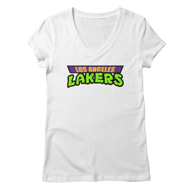 Laker Power Women's Regular V-Neck by Mike Hampton's T-Shirt Shop