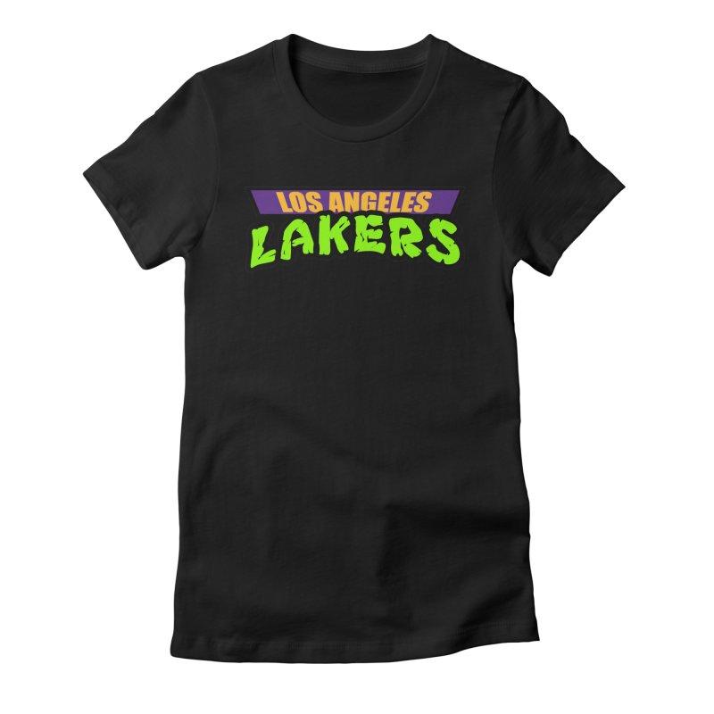 Laker Power Women's Fitted T-Shirt by Mike Hampton's T-Shirt Shop