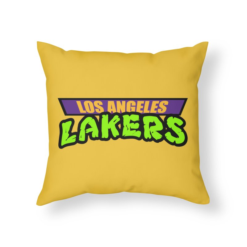 Laker Power Home Throw Pillow by Mike Hampton's T-Shirt Shop