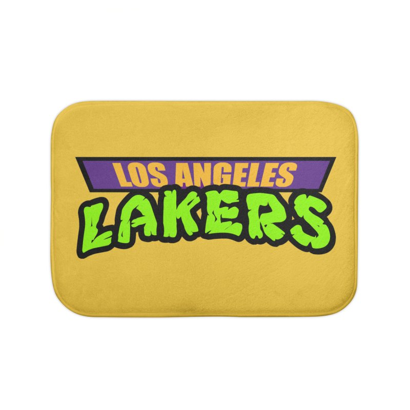 Laker Power Home Bath Mat by Mike Hampton's T-Shirt Shop