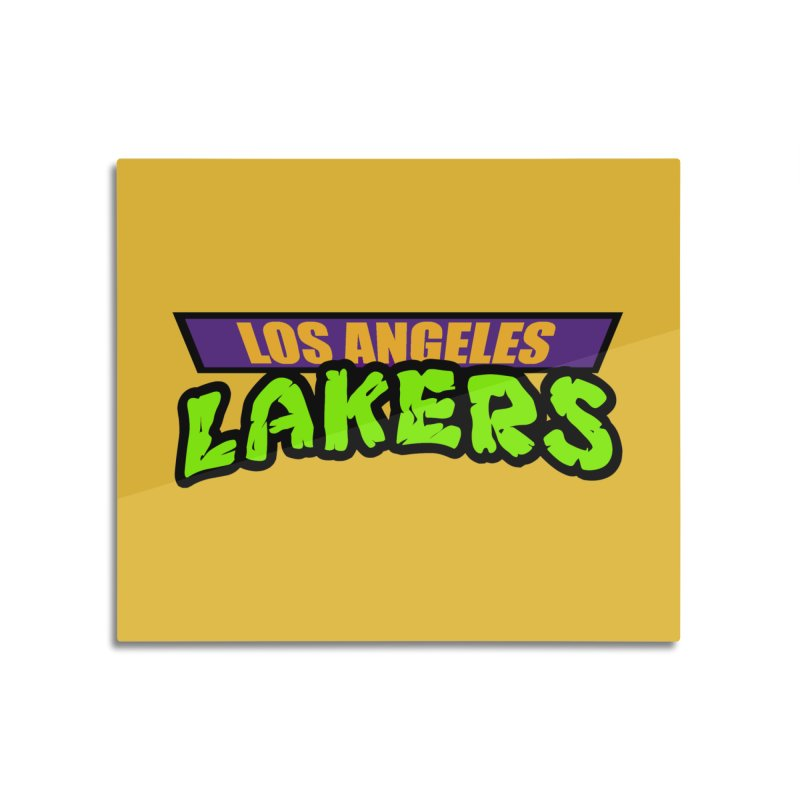 Laker Power Home Mounted Acrylic Print by Mike Hampton's T-Shirt Shop