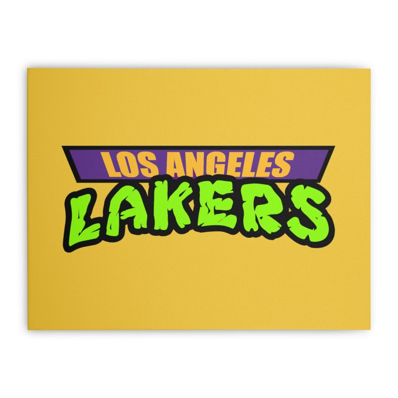 Laker Power Home Stretched Canvas by Mike Hampton's T-Shirt Shop