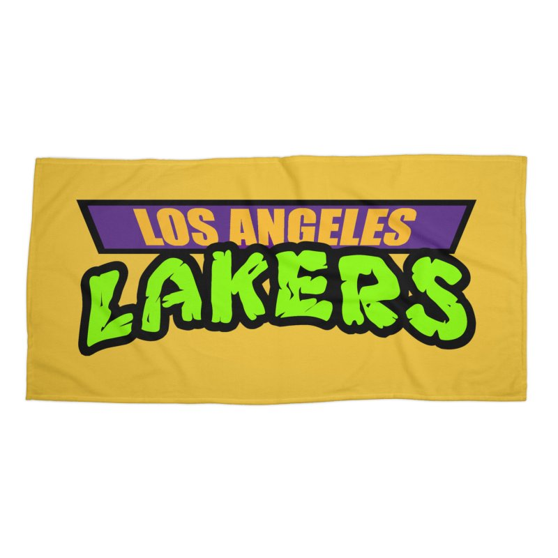 Laker Power Accessories Beach Towel by Mike Hampton's T-Shirt Shop