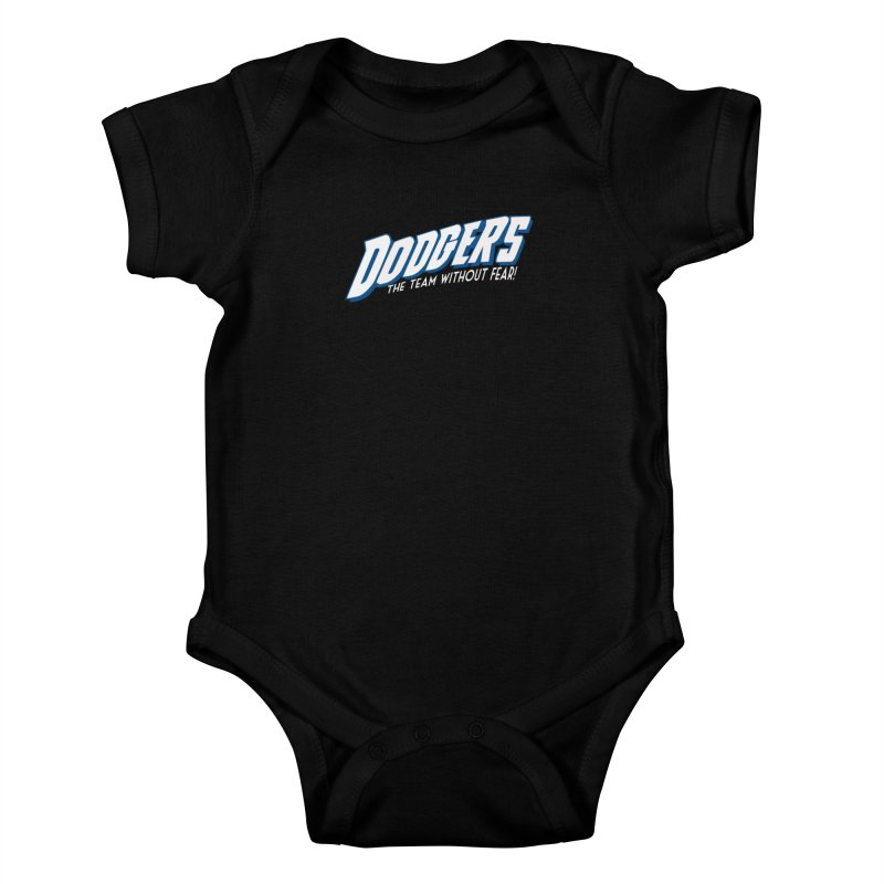 The Team Without Fear! Kids Baby Bodysuit by Mike Hampton's T-Shirt Shop