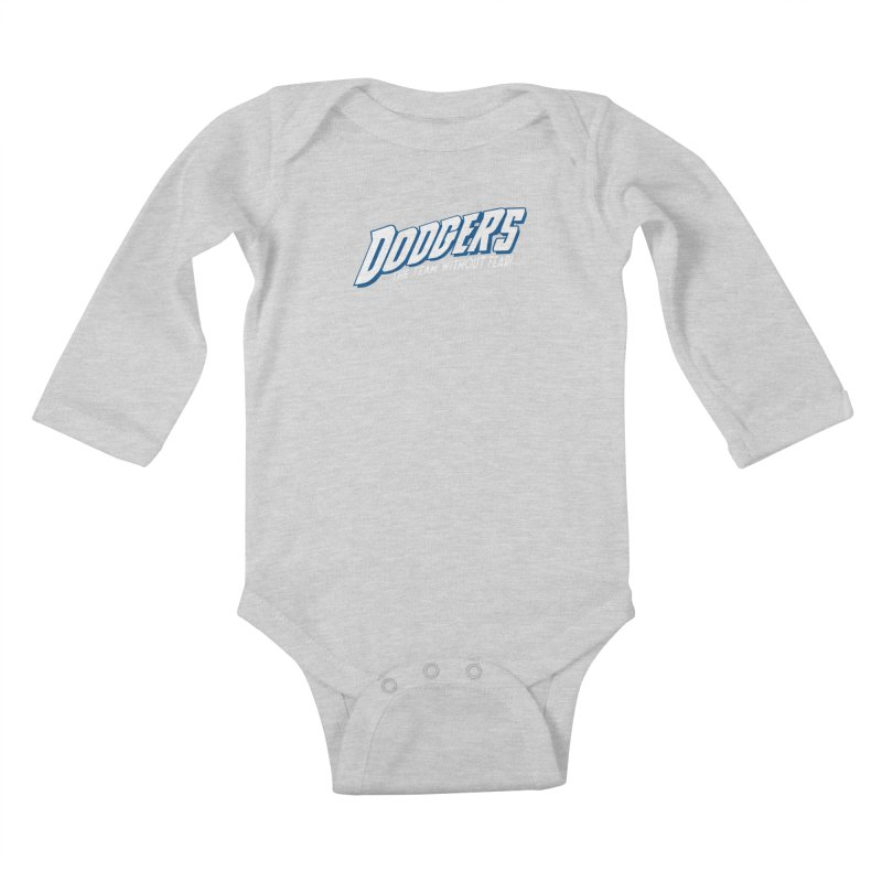 The Team Without Fear! Kids Baby Longsleeve Bodysuit by Mike Hampton's T-Shirt Shop