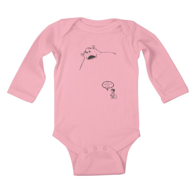 The Boogie Man is my Friend Kids Baby Longsleeve Bodysuit by Mike Hampton's T-Shirt Shop