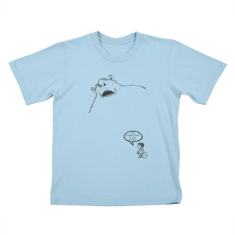 The Boogie Man is my Friend Kids T-Shirt by Mike Hampton's T-Shirt Shop
