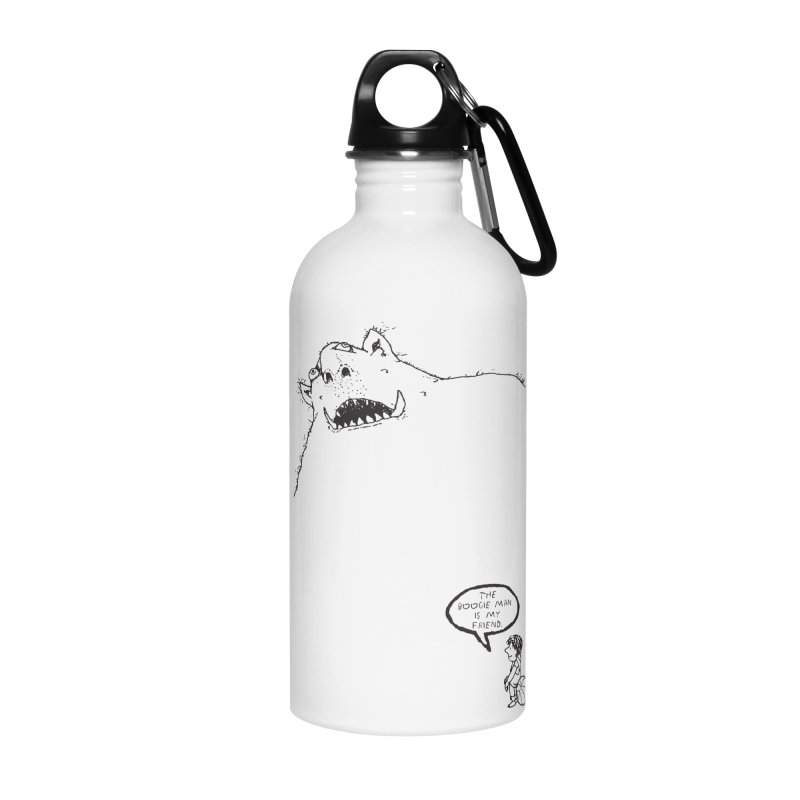 The Boogie Man is my Friend Accessories Water Bottle by Mike Hampton's T-Shirt Shop