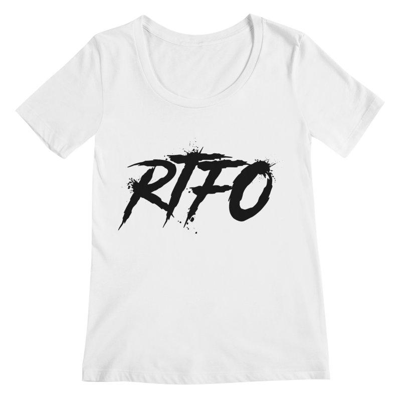 RTFO Women's Regular Scoop Neck by Mike Hampton's T-Shirt Shop