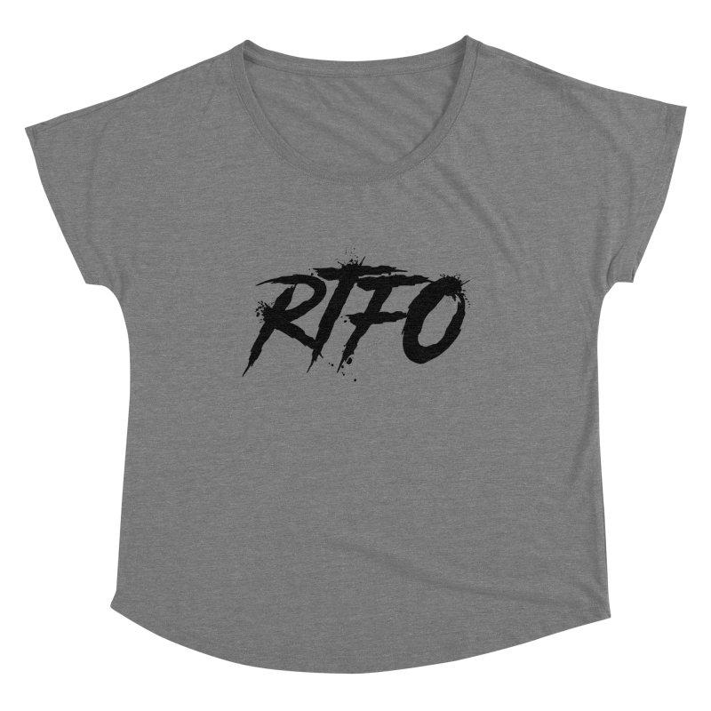 RTFO Women's Scoop Neck by Mike Hampton's T-Shirt Shop