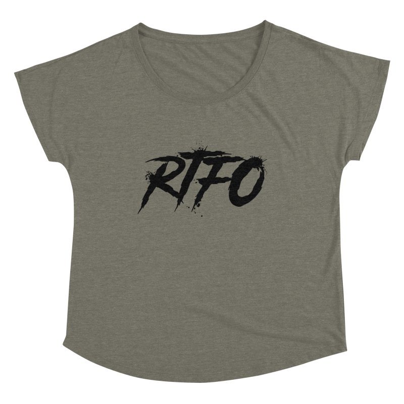 RTFO Women's Scoop Neck by Mike Hampton's T-Shirt Shop