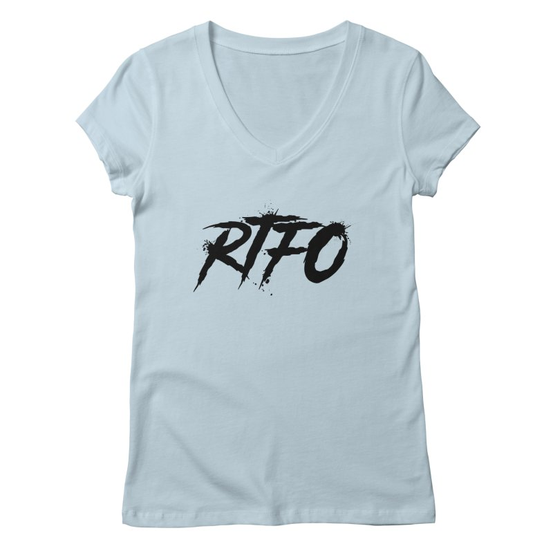 RTFO Women's V-Neck by Mike Hampton's T-Shirt Shop