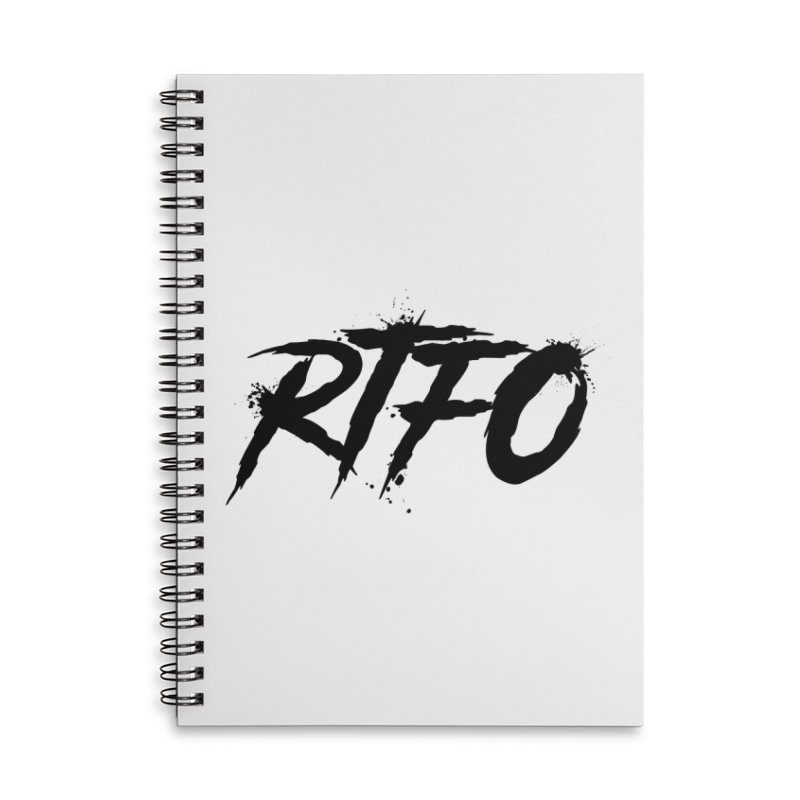RTFO Accessories Lined Spiral Notebook by Mike Hampton's T-Shirt Shop