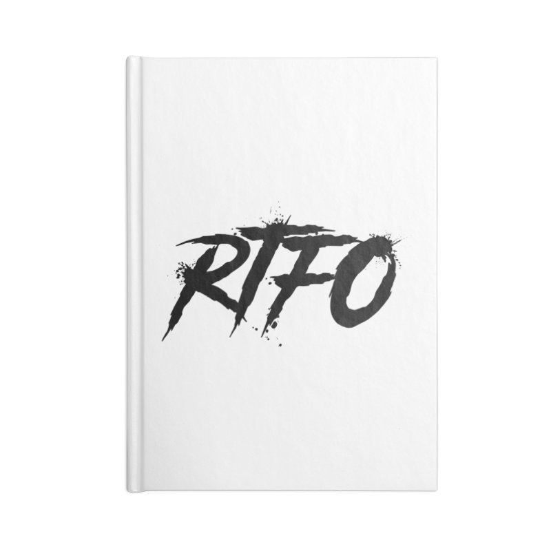 RTFO Accessories Blank Journal Notebook by Mike Hampton's T-Shirt Shop