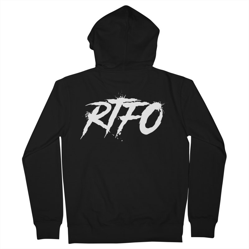 RTFO (alt logo) Men's French Terry Zip-Up Hoody by Mike Hampton's T-Shirt Shop