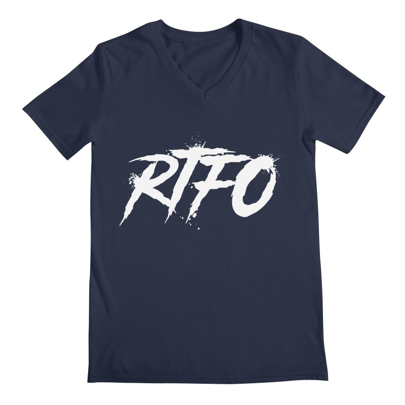 RTFO (alt logo) Men's Regular V-Neck by Mike Hampton's T-Shirt Shop