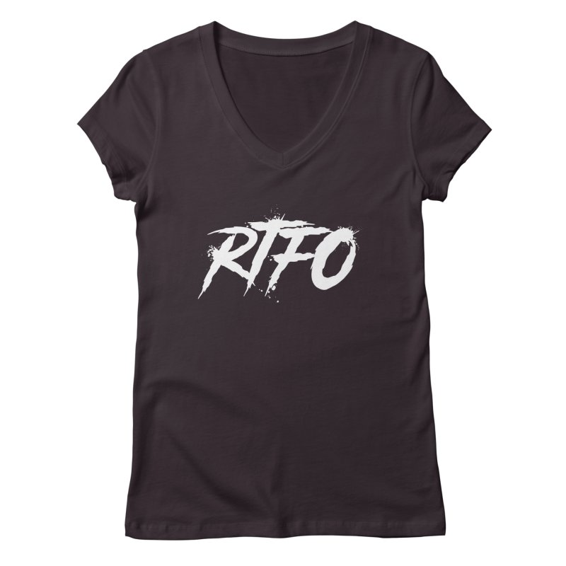 RTFO (alt logo) Women's Regular V-Neck by Mike Hampton's T-Shirt Shop