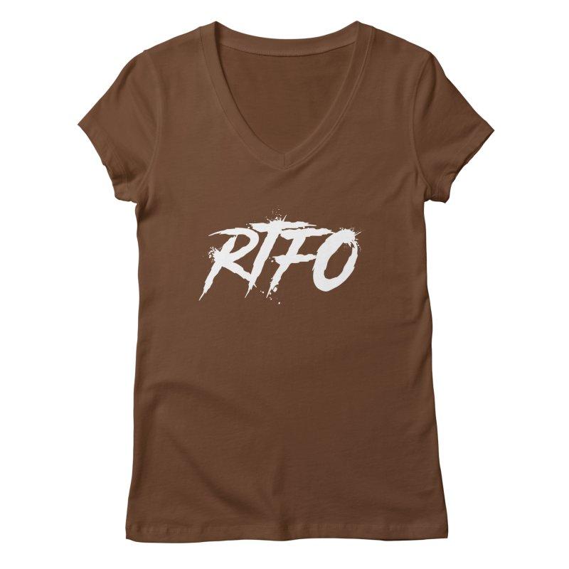 RTFO (alt logo) Women's Regular V-Neck by Mike Hampton's T-Shirt Shop