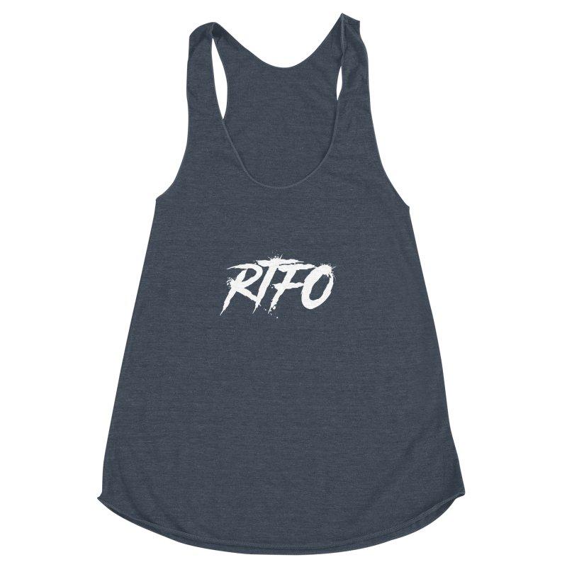 RTFO (alt logo) Women's Racerback Triblend Tank by Mike Hampton's T-Shirt Shop