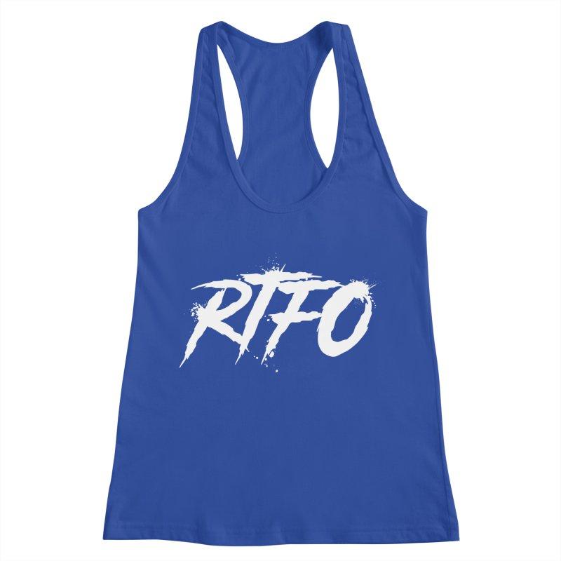 RTFO (alt logo) Women's Racerback Tank by Mike Hampton's T-Shirt Shop