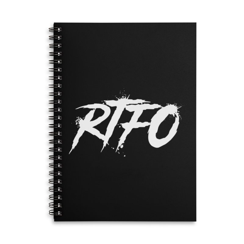 RTFO (alt logo) Accessories Lined Spiral Notebook by Mike Hampton's T-Shirt Shop