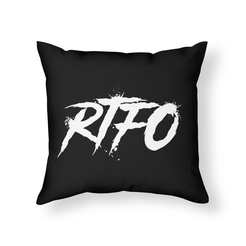 RTFO (alt logo) Home Throw Pillow by Mike Hampton's T-Shirt Shop