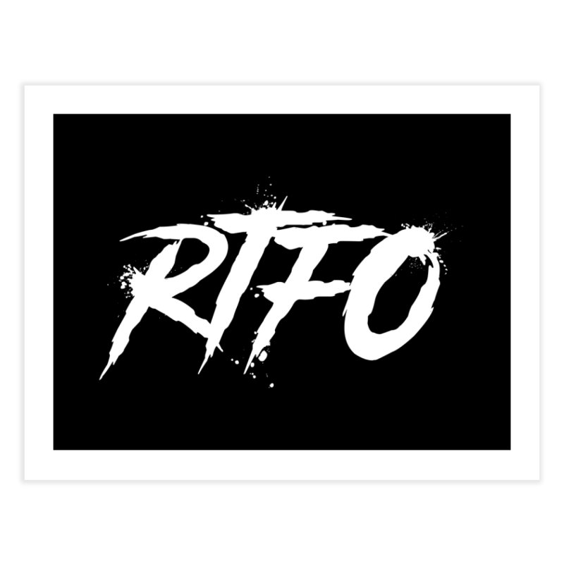 RTFO (alt logo) Home Fine Art Print by Mike Hampton's T-Shirt Shop