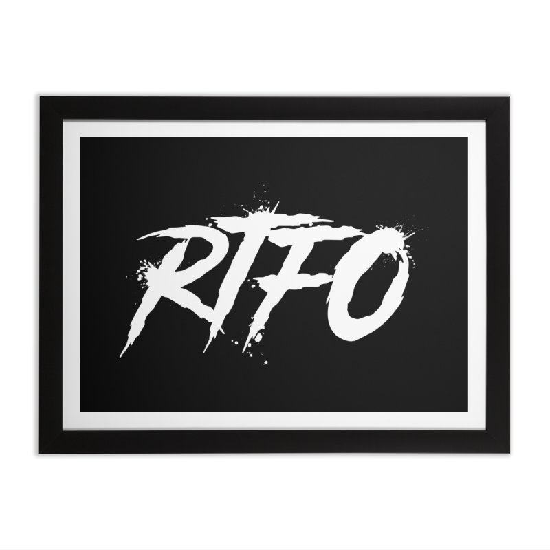 RTFO (alt logo) Home Framed Fine Art Print by Mike Hampton's T-Shirt Shop