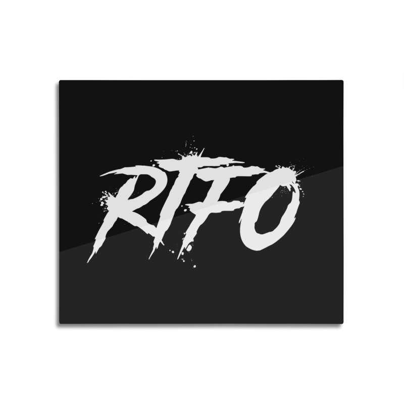 RTFO (alt logo) Home Mounted Aluminum Print by Mike Hampton's T-Shirt Shop