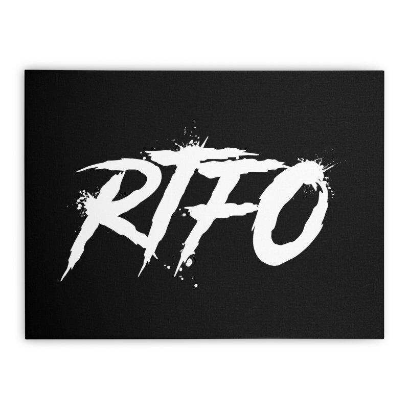 RTFO (alt logo) Home Stretched Canvas by Mike Hampton's T-Shirt Shop