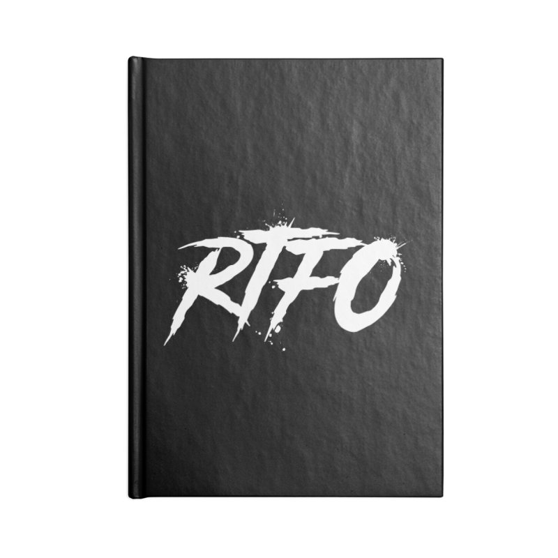 RTFO (alt logo) Accessories Lined Journal Notebook by Mike Hampton's T-Shirt Shop