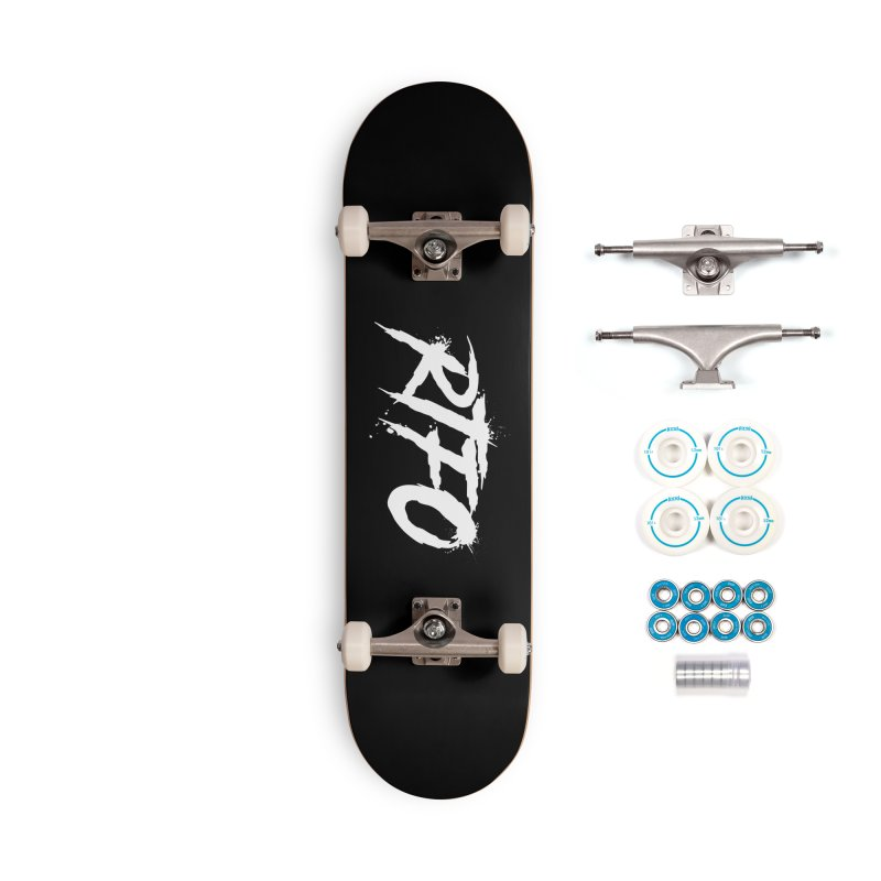 RTFO (alt logo) Accessories Complete - Basic Skateboard by Mike Hampton's T-Shirt Shop