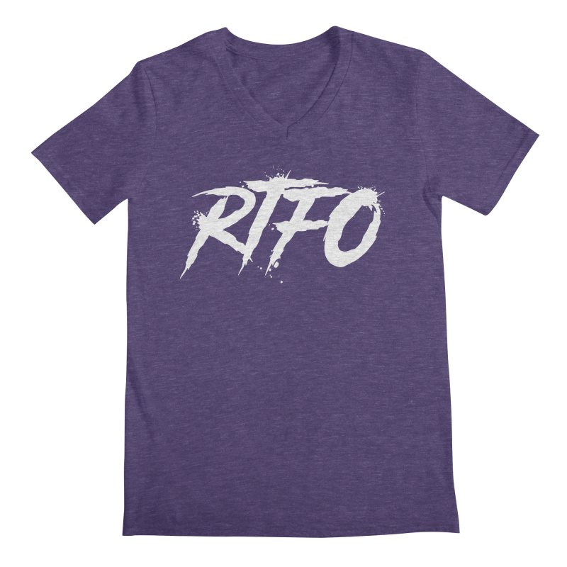 RTFO (alt logo) Men's V-Neck by Mike Hampton's T-Shirt Shop