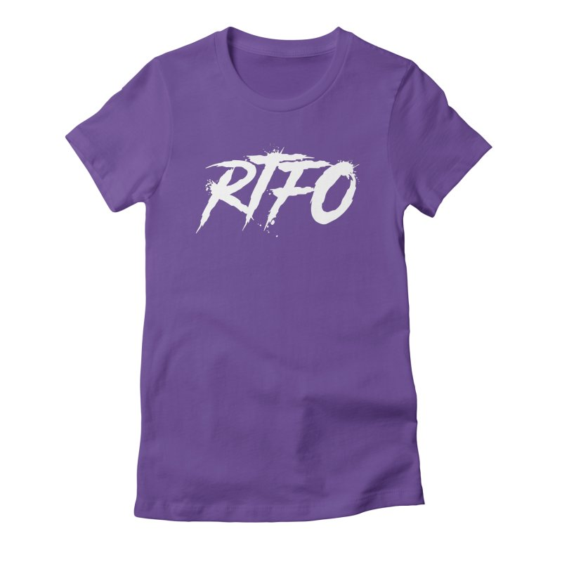 RTFO (alt logo) Women's Fitted T-Shirt by Mike Hampton's T-Shirt Shop