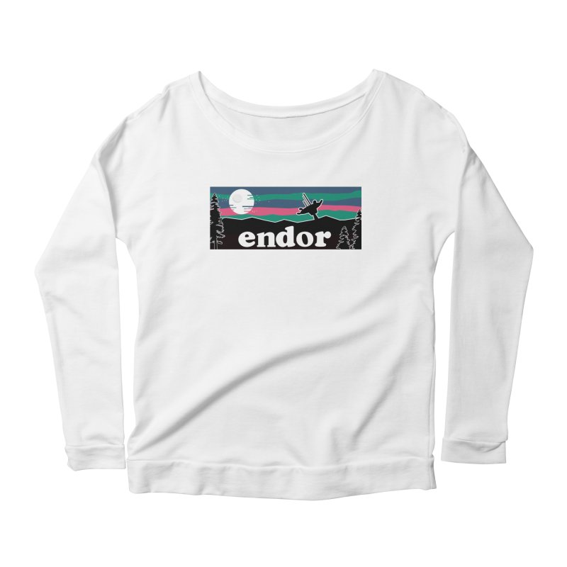 That's no Moon Women's Scoop Neck Longsleeve T-Shirt by Mike Hampton's T-Shirt Shop