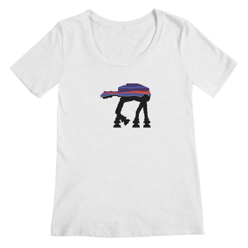 Walking thing.. Women's Regular Scoop Neck by Mike Hampton's T-Shirt Shop