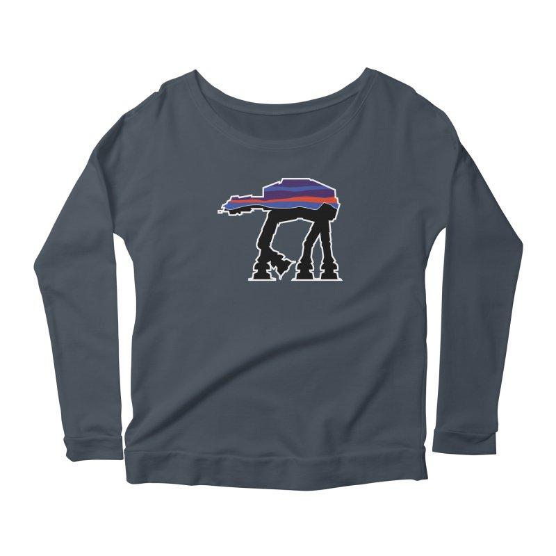 Walking thing.. Women's Scoop Neck Longsleeve T-Shirt by Mike Hampton's T-Shirt Shop