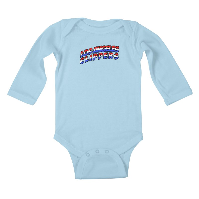 The Other Team in LA Kids Baby Longsleeve Bodysuit by Mike Hampton's T-Shirt Shop